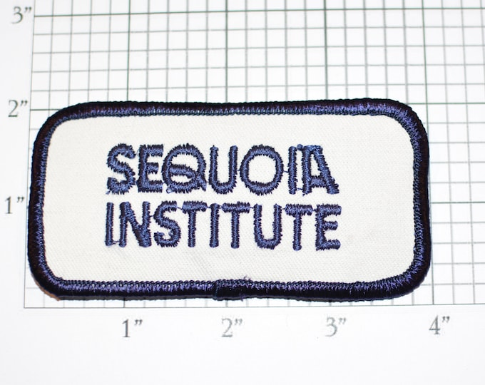 Sequoia Institute Iron-on Vintage Embroidered Clothing Patch Vocational Technology School Logo Emblem Jacket Shirt Hat Fremont California