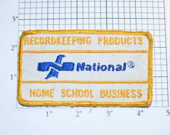 National Recordkeeping Products Home School Business Sew-On Vintage Embroidered Clothing Patch Uniform Shirt Jacket Hat Emblem Logo Insignia