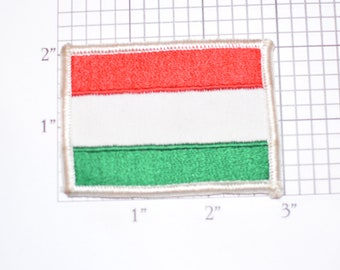 Hungary Flag Sew-On Vintage Embroidered Clothing Patch Travel Trip Souvenir Memorabilia Gift Keepsake Cultural Ethnic Pride Emblem Logo