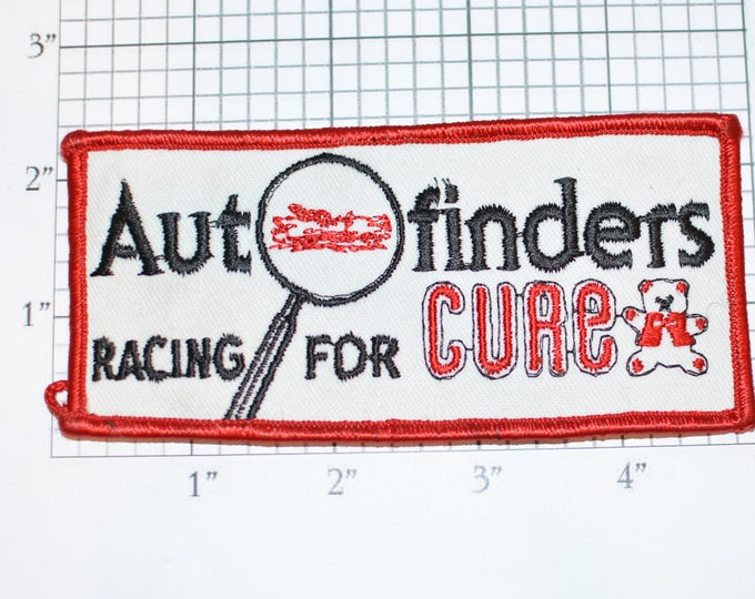 Autofinders Racing for Cure Vintage Embroidered Iron-on Clothing Patch Collectible Emblem Logo Insignia