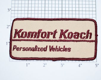 Komfort Koach Personalized Vehicles Vintage Sew-on Embroidered Clothing Patch for Uniform Shirt Jacket Vest Emblem Logo Insignia Coach