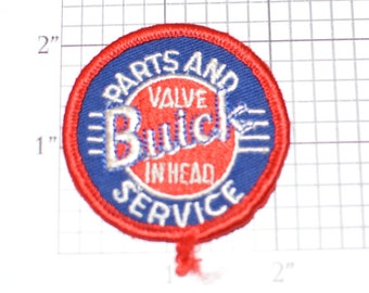 Buick Parts And Service Valve in Head Sew-On Authentic Vintage Embroidered Clothing Patch Auto Brand Collectible Garage Mechanic Car Guy