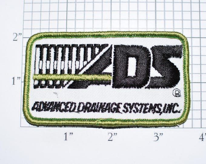 Advanced Drainage Systems Inc Embroidered Sew-on Clothing Patch Emblem for Uniform Workshirt Jacket Employee Name Woven Work Shirt Logo e33q