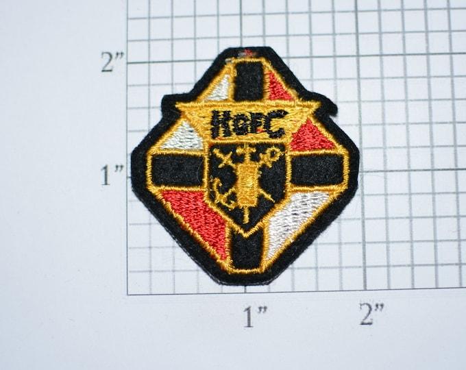Knights of Columbus K of C Vintage Sew-on Embroidered Clothing Patch Organization Logo Emblem Catholic Charity Men's Organization Keepsake