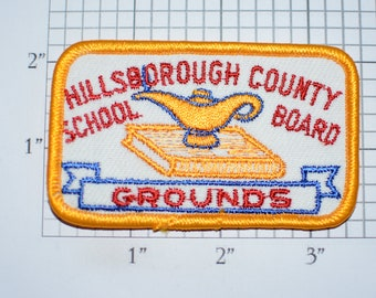 Hillsborough County (Florida) School Board Grounds Embroidered Iron-on Vintage Clothing Patch for Employee Uniform Shoulder Jacket Shirt Hat