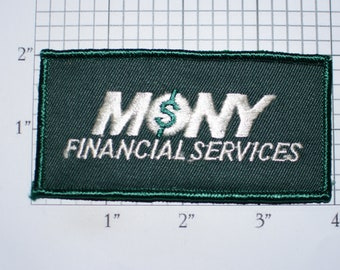 MONY Financial Services Iron-on Embroidered Clothing Patch for Employee Uniform Work Shirt Logo Emblem Banking Loans Costume Cosplay Idea