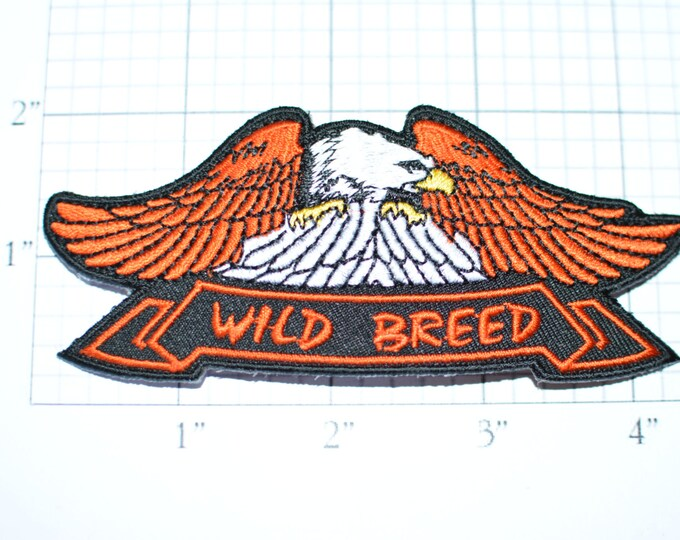 Wild Breed Patch Eagle, Biker Patch Iron-on Patch Embroider Patch Clothing Patch Applique Sew Motorcycle Patch Black Outlaw Biker Patch ozb