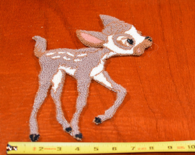 Soft Fuzzy Thick Baby Deer Fawn Vintage Sew-on Clothing Patch Patch Kid Clothing Jacket Shirt Blanket Pajamas Sewing Craft Idea for Children