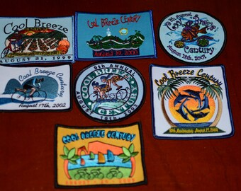 Cool Breeze Century Ride (Ventura California) Sew-on Embroidered Clothing Patch Cycling Bike Rider Participant Keepsake Emblem Collectible