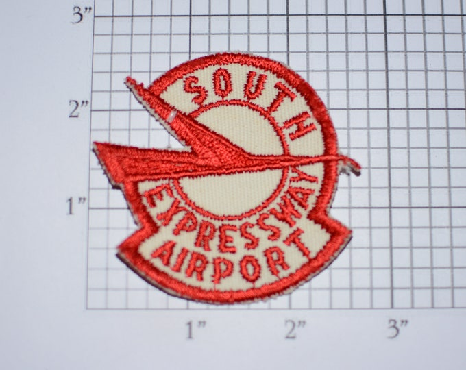 South Expressway Airport (Jonesboro Georgia) Closed 1994 Sew-On Vintage Embroidered Clothing Patch Souvenir Collectible Memento Keepsake