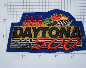 1995 Daytona 500 Iron-On Vintage Embroidered Clothing Patch Event Souvenir Emblem for Racing Fan Jacket Shirt Garage Memorabilia