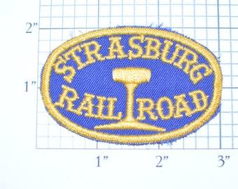 Strasburg Railroad RR Sew-On Embroidered Clothing Patch Train Souvenir Logo Emblem Collectible Scrapbook Memorabilia Applique Gift Idea