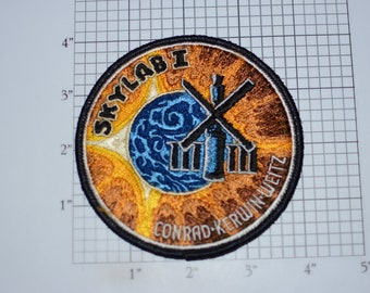 "Mint Skylab 1 I 4"" LARGE Vintage Embroidered Clothing Patch NASA Space Mission Aerospace Collectible Memorabilia Astronaut Collector Gift"