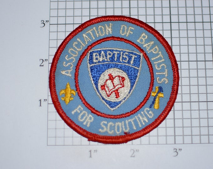 Association of Baptists for Scouting RARE Vintage Sew-on Embroidered Clothing Patch Cub Boy Scout Uniform BSA Badge Keepsake Emblem Religion