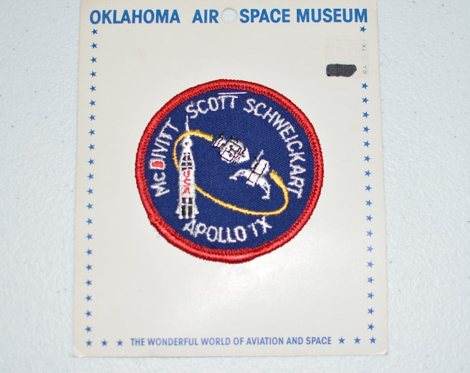 Mint Apollo 9 IX Vintage Embroidered Clothing Patch NASA Space Mission Aerospace Collectible Memorabilia Astronaut Collector Gift Idea f1z