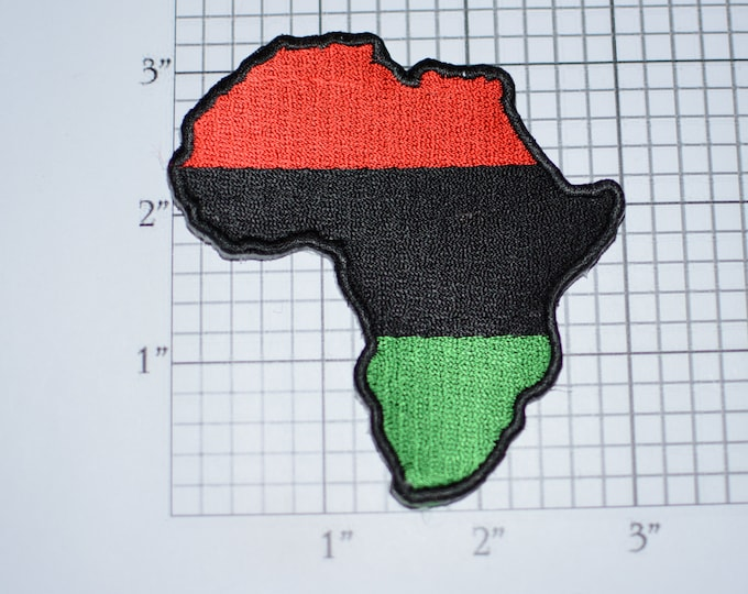 Pan African Iron-on Embroidered Clothing Patch Black Liberation UNIA Africa Pride Outline for Shirt Jacket Vest Backpack Memento Souvenir