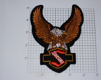 Suzuki Eagle Vintage (Mint Condition) Iron-on Embroidered Clothing Patch for Biker Jacket Vest MC Motorcycle Rider Emblem Cool DIY Gift Idea