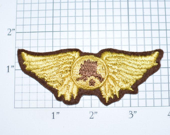 Alaska Pilot Wings Rare Vintage Iron-On Embroidered Clothing Patch for Shirt Vest Jacket Coat Uniform Collectible Souvenir Memorabilia e29c