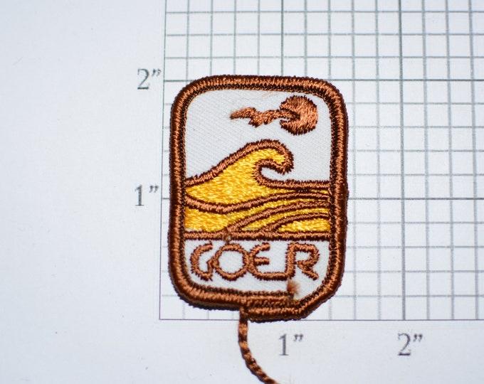 GOER Vintage Embroidered Sew-on Clothing Patch for Uniform Workshirt Jacket Work Shirt Emblem Cosplay Costume Emblem Worker Logo Insignia