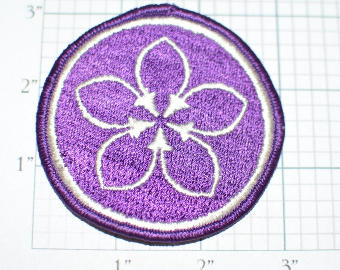 Lovely Purple Flower Iron-On Vintage Embroidered Patch Hippie Boho Clothing Patch Shirt Patch Jacket Patch Backpack Patch Jeans Patch e23o