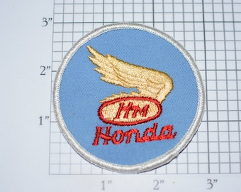 Honda Motor Gold Wing Emblem Vintage Sew-On Embroidered Clothing Patch RARE Motorcycle Collectible Logo Insignia Motorsport Racing Badge