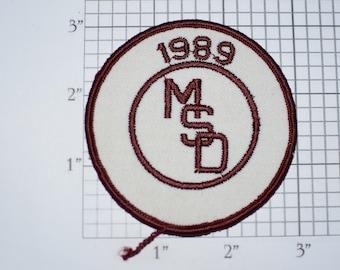MSD (Marjory Stoneman Douglas, Parkland Florida) 1989 Graduate Sew-On Vintage Embroidered Patch for Alumni Jacket Vest Shirt Collectible