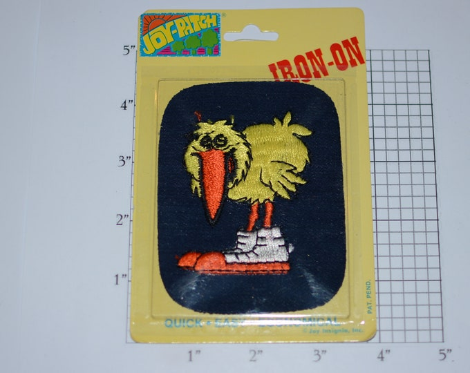"""Yellow Bird """"Joy Patch"""" Vintage Denim Iron-on Embroidered Clothing Patch (Unopened Original Pkg) Jeans Jacket DIY Accent Hole Repair"""