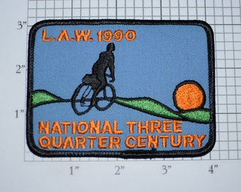 LAW (League of American Wheelmen) 1990 National Three Quarter Century 3/4 Vintage Iron-on Embroidered Patch Bike Cycling Collectible Memento
