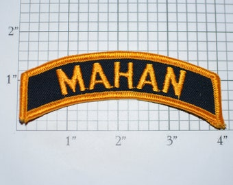 MAHAN Iron-On Vintage Embroidered Clothing Patch Top Rocker Tab Text Motorcycle Biker Jacket Vest Name Tag Emblem for Shirt Uniform DIY