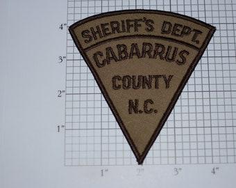 Sheriff's Dept Cabarrus County N.C. North Carolina Sew-On Vintage Embroidered Clothing Patch Uniform Shoulder Jacket Vest Costume Cosplay