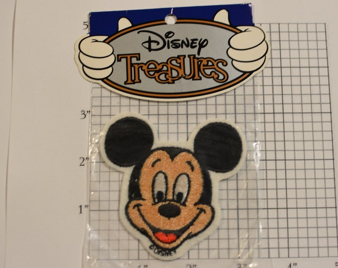 Mickey Mouse Character Patch SEALED ORIGINAL Packaging Walt Disney Theme Parks Resorts Embroidered Licensed Vintage Clothing Patch Disneyana