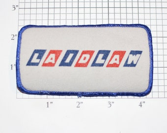LAIDLAW (Intercity Bus Service) Company Sew-On Vintage Embroidered Patch (Slightly Dingy) for Employee or Driver Uniform Shirt Jacket Emblem