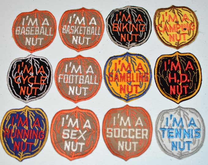 I'm A Nut Funny Vintage Embroidered Patches Sew-on Clothing Patch for Jacket Patch Jeans Patch Backpack Patch Vest Patch f1