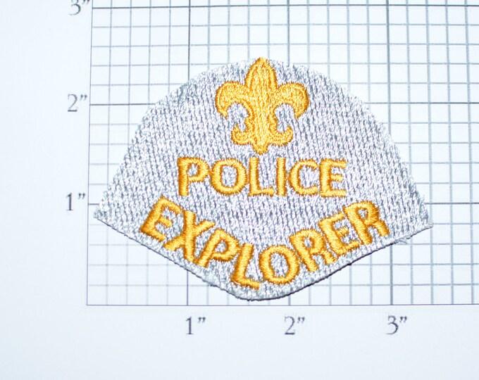 Boy Scouts Fleur De Lis BSA Police Explorer Iron-On Vintage Embroidered Patch No Border Jacket Patch Vest Patch Uniform Patch Scouting e22d