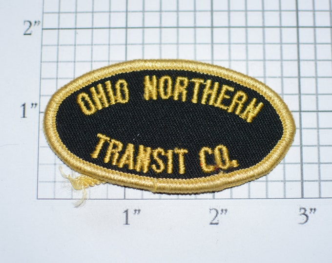 Ohio Northern Transit Co Sew-On Vintage Embroidered Clothing Patch for Driver Jacket Shirt Backpack Hat Woven Emblem Logo Collectible