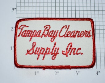 Tampa Bay (Florida) Cleaners Supply Inc Iron-On Vintage Embroidered Clothing Patch for Employee Uniform Work Shirt Jacket Emblem Laundry