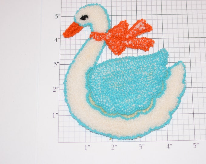 Soft Fuzzy Thick Swan Bird Vintage Sew-on Clothing Patch Patch Kid Clothing Jacket Shirt Blanket Pajamas Fun Sewing Craft Idea for Children