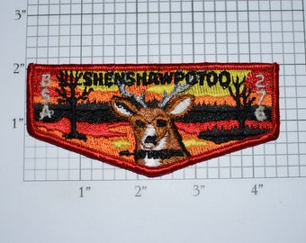 Shenshawpotoo Lodge 276 WWW (Order of the Arrow) Sew-On Vintage Embroidered Clothing Pocket Patch Boy Scout Uniform BSA Keepsake Collectible