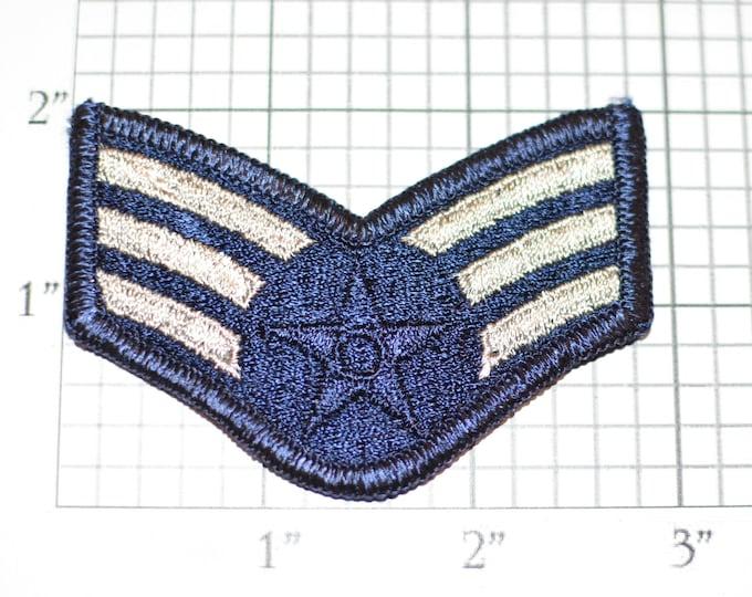 Old USAF Senior Airman Rank Insignia E-4 Pay Grade Vintage Uniform Patch Emblem Logo Military Retiree Jacket Vest Militaria Keepsake Memento