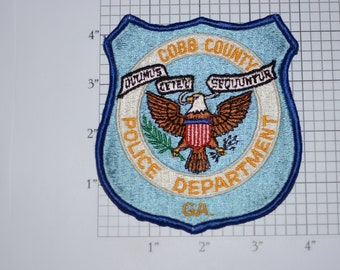 Cobb County Police Department Sew-on Embroidered Clothing Patch for Uniform Shoulder Jacket Vest Shirt Law Enforcement Collectible Officer