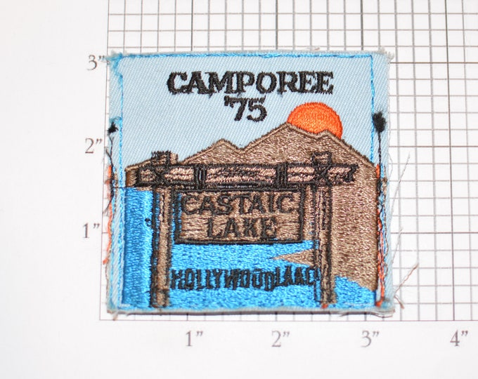 Camporee '75 (1975) Castaic Lake Hollywood LAAC BSA Sew-On Vintage Embroidered Clothing Patch Uniform Shirt Jacket Keepsake Badge Scouting