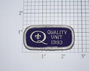 Quality Unit 1993 Vintage Embroidered Iron-on Clothing Applique Patch Rocker Tab Cub Boy Scouts BSA Uniform Shirt Vest Hat Emblem Keepsake