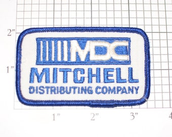 Mitchell Distributing Company MDC Vintage Embroidered Clothing Patch for Trucker Employee Uniform Work Shirt Jacket Emblem Insignia