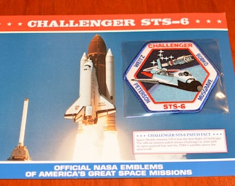 Space Shuttle Challenger (First Flight) STS-6 DISCONTINUED Mint NASA Space Mission Patch w/ Statistics and Fact Card Collectible Memento