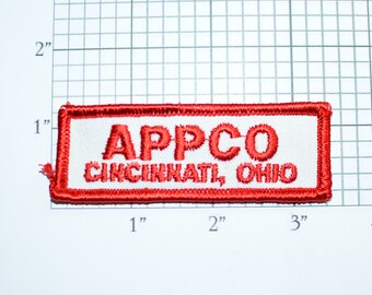 APPCO Cincinnati Ohio Iron-On Vintage Clothing Patch for Uniform Shirt Jacket Hat Emblem Logo Insignia Employee Worker Contractor Company