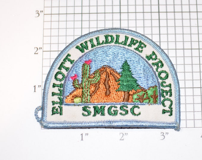 Elliott Wildlife Project SMGSC Vintage Iron-on Embroidered Clothing Patch Collectible Souvenir Memorabilia Emblem Badge Insignia Girl Scouts