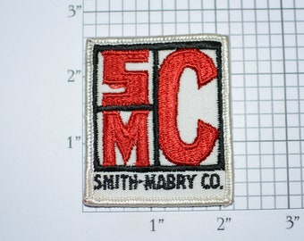 SMC Smith Mabry Co Company Vintage Sew-on Embroidered Clothing Patch for Uniform Shirt Jacket Vest Insignia Logo Emblem Insignia