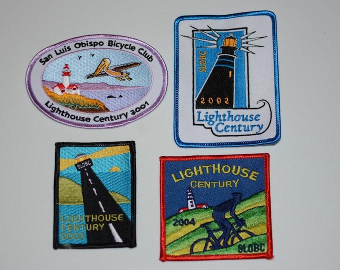 San Luis Obispo Bicycle Club (California) Lighthouse Century Embroidered Clothing Patch Cycling Keepsake Bike Rider Collectible Memento Logo