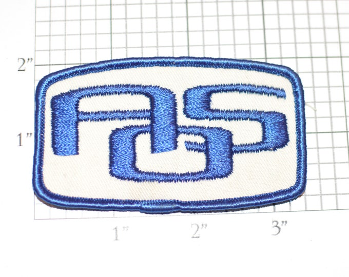 AOS Blue Sew-on Vintage Embroidered Clothing Patch Emblem in Good Condition for Uniform Shirt Vest Logo Insignia Collectible Crest