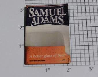 Samuel Adams, A Better Glass of Beer RARE Vintage Pinback Button 1997 Beer Advertising Breweriana Collectible Memorabilia